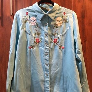Scully embroidered western shirt
